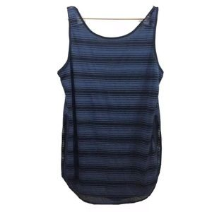 ATHLETA Striped Scoop Neck Layered Tank Top